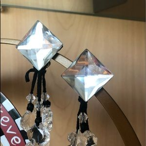 Crystal Clip earrings